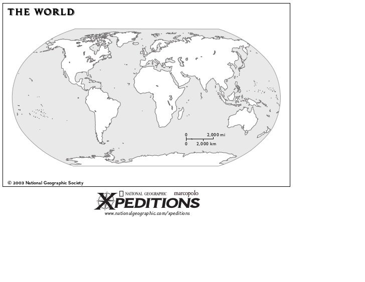 7th grade world history visual summary the world 0 2000 mi 0 20 00 km 2003 national geographic society nationalgeographicxpeditions gumiabroncs Choice Image