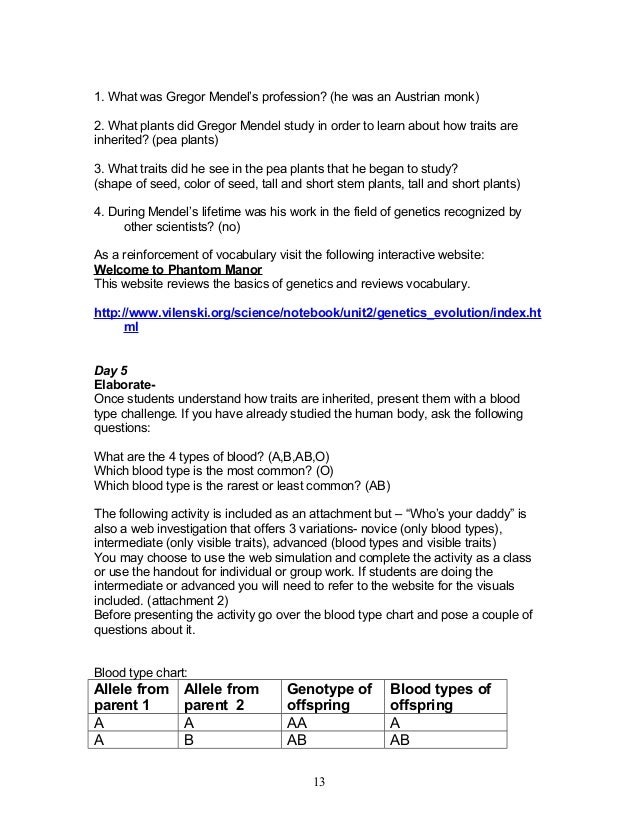 7th heredity genetics 10 1308 – Genetics Basics Worksheet