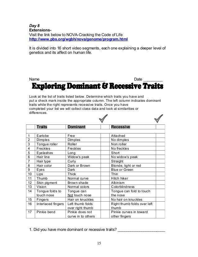Heredity Worksheet Answers Pixelpaperskin – Dna the Molecule of Heredity Worksheet