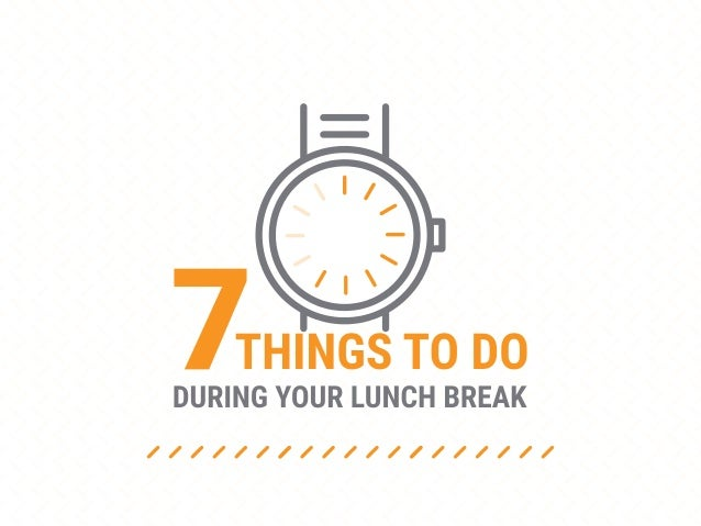 Breaks are important! The most productive people work for 52 minutes, then break for 17 minutes 2008 University of Illinoi...