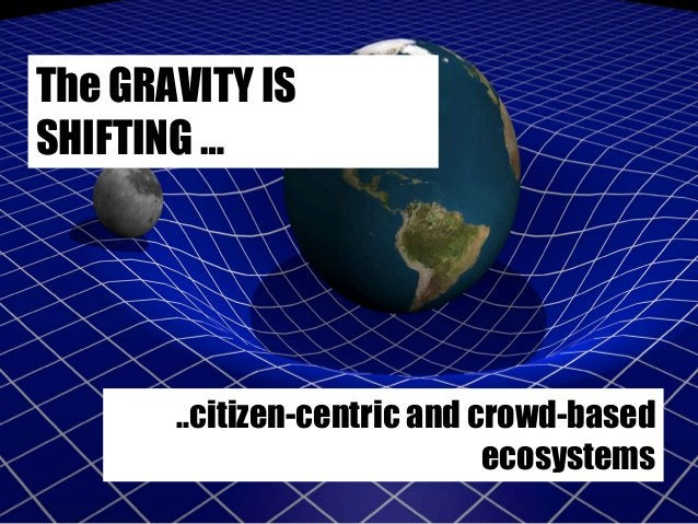 """Introduction FINAL SLIDE WITH """"WEB"""" AND NEW MODELS OF INNOVATION The GRAVITY IS SHIFTING … ..citizen-centric and crowd-bas..."""