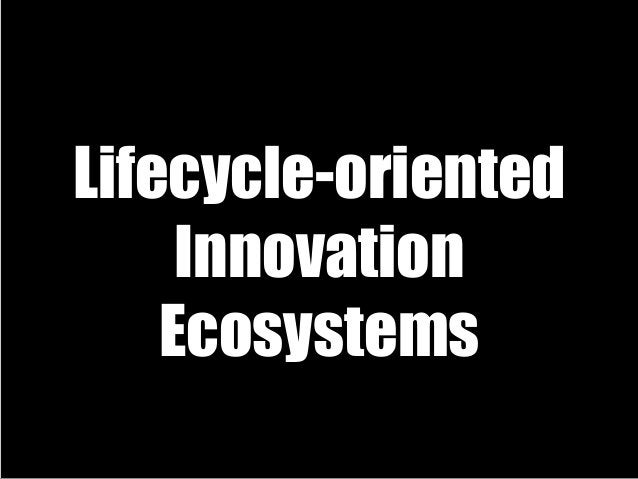 Lifecycle-oriented Innovation Ecosystems