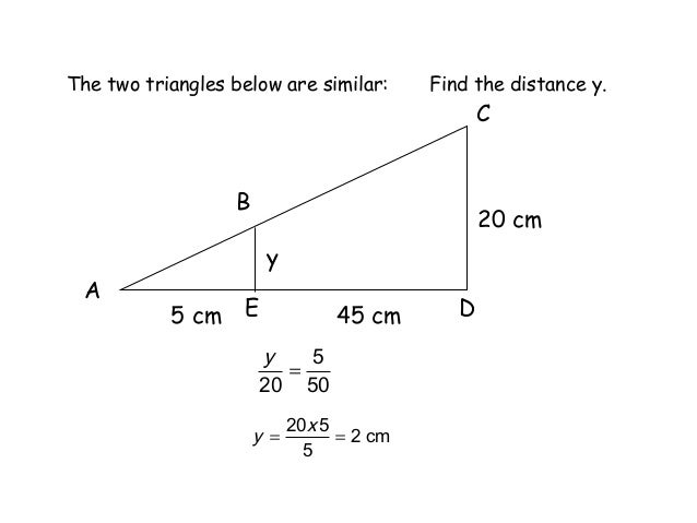 how to find the scale factor of two similar triangles