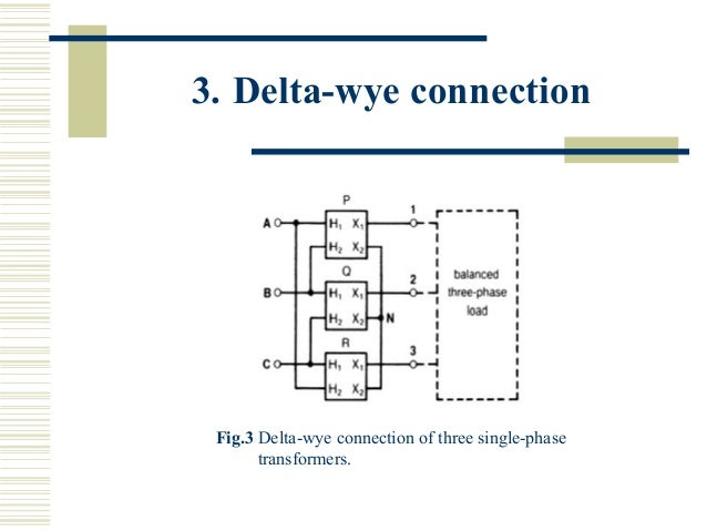 three phase transformers rh slideshare net Open Delta Transformer Diagram Open Delta Transformer Connection Diagram
