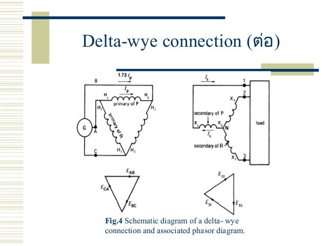 three phase transformers delta wye connection