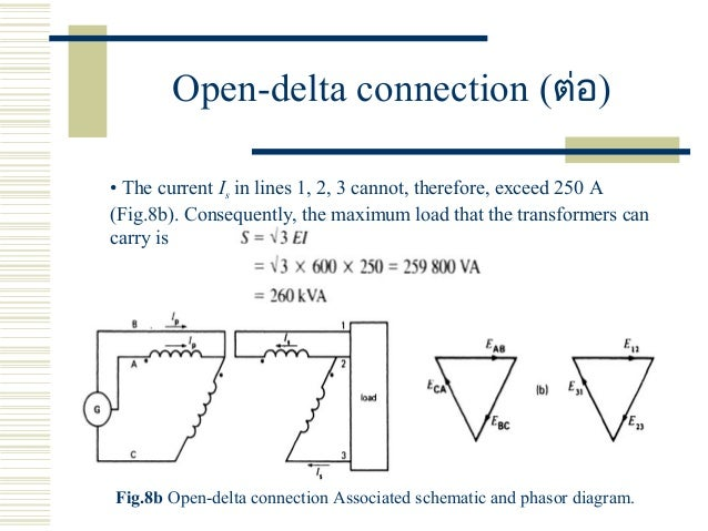 Three phase transformers open delta connection example 3 29 ccuart