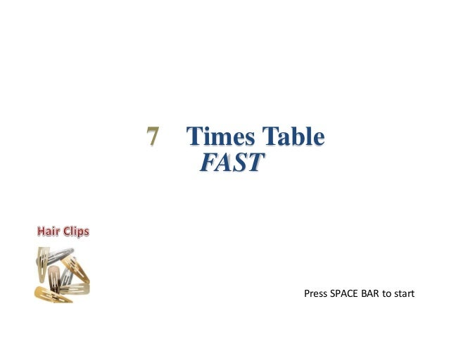 7 Times Table Fast Project Perakul Multiplication For The Hearing I