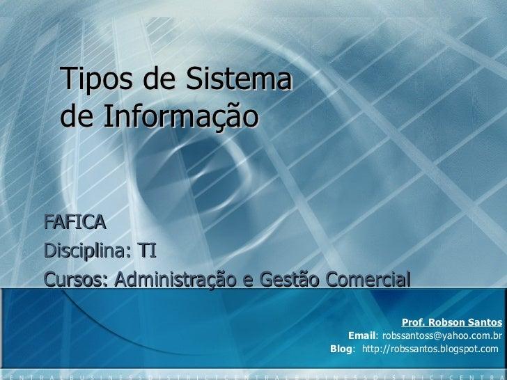 Curso de sistemas de informacao