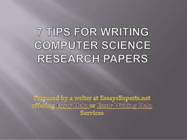 Scientific research paper help