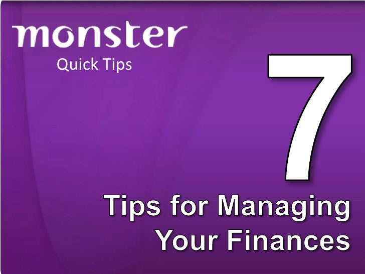 Techniques to managing finances