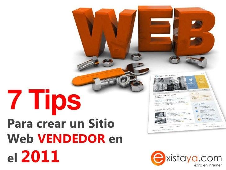 7 tips para crear una página web vendedora en el 2011