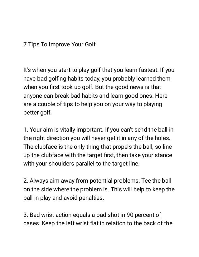 7 Tips To Improve Your Golf Slide 2