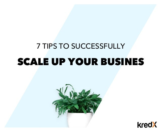 SCALE UP YOUR BUSINES 7 TIPS TO SUCCESSFULLY