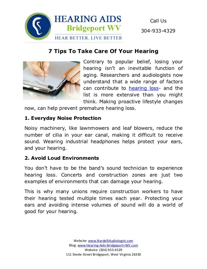 Call Us                                                                 304-933-4329         7 Tips To Take Care Of Your H...