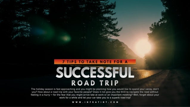 7 tips to take note for a successful road trip