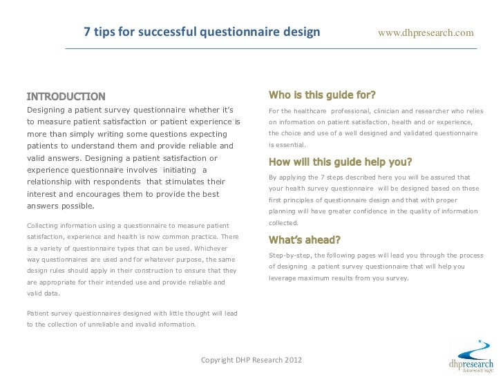 7 Tips You Need To Know For Successful Questionnaire Design