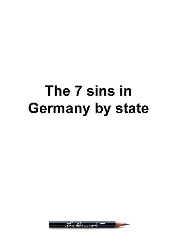 The 7 sins in Germany by state