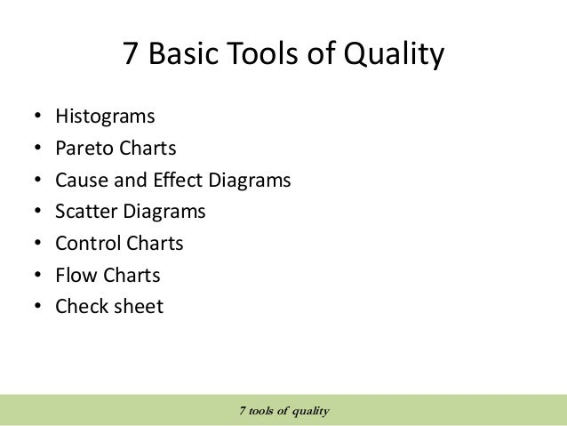 Quality tools and techniques 7 tools of quality ccuart Choice Image