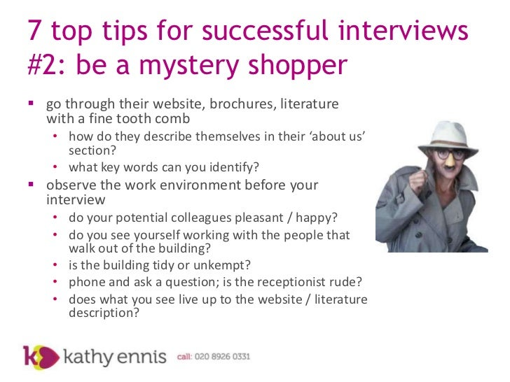 7 top tips for successful interviews