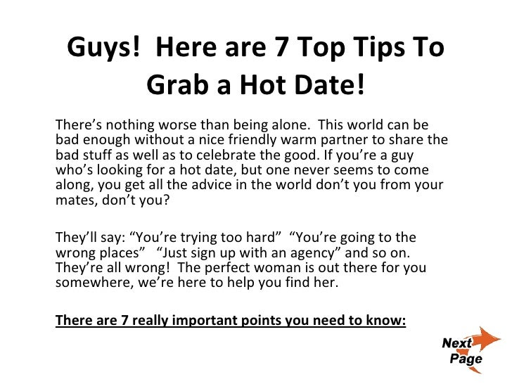 advice for guys