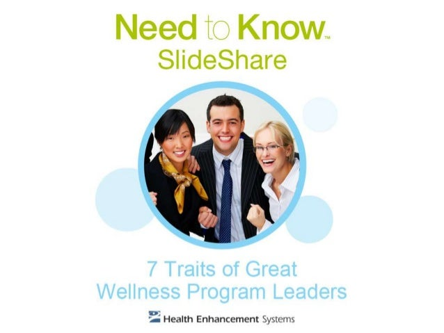 Successful wellness program leaders share certain attributes. This guideline helps you adopt and practice these characteri...