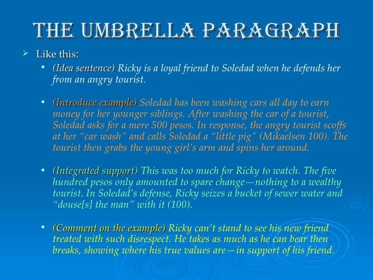 The Red Umbrella Essay