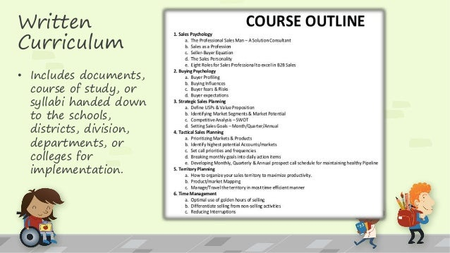 7 types of curriculum operating in schools