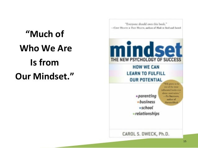 """15   """"Much  of     Who  We  Are     Is  from     Our  Mindset."""""""