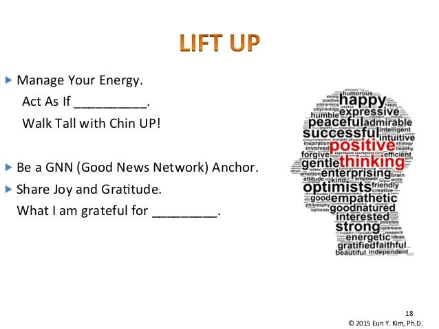 """18   """"Manage  Your  Energy.   Act  As  If  __________.   Walk  Tall  with  Chin  UP!      """"..."""