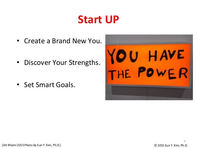 Start  UP • Create  a  Brand  New  You.      • Discover  Your  Strengths.      • Set  Smart  ...