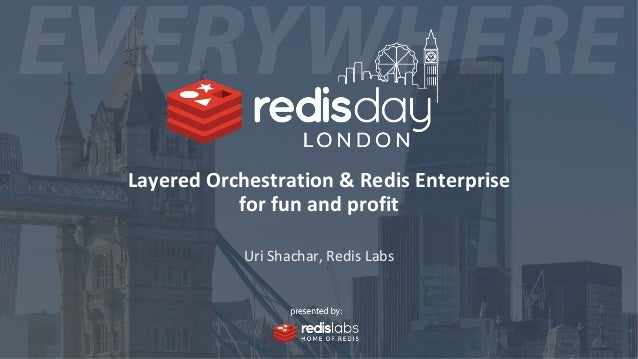 Layered Orchestration & Redis Enterprise for fun and profit Uri Shachar, Redis Labs