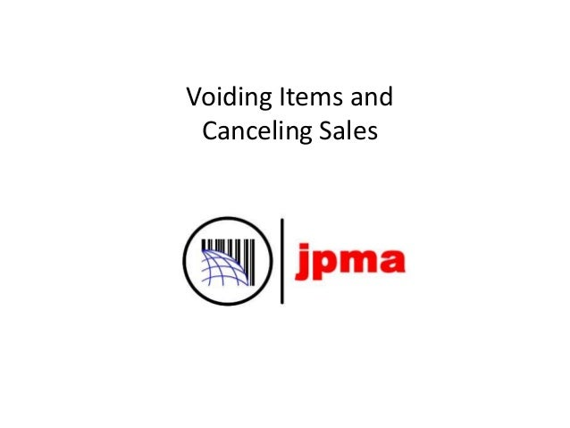 Voiding Items and Canceling Sales