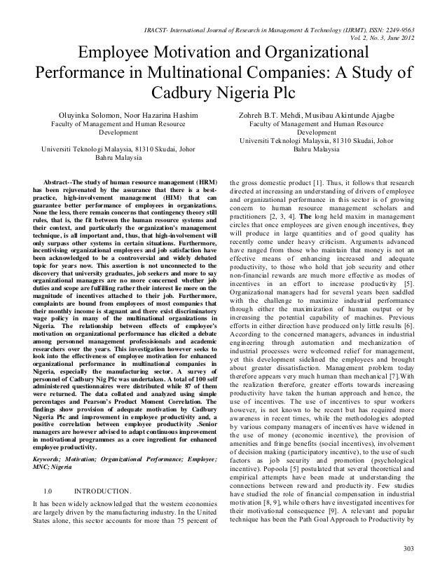 IRACST- International Journal of Research in Management & Technology (IJRMT), ISSN: 2249-9563 Vol. 2, No. 3, June 2012 303...