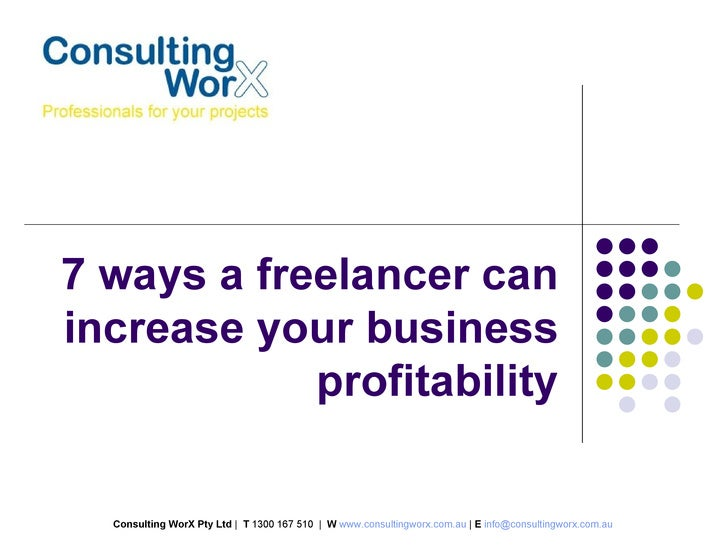 7 ways a freelancer can increase your business profitability