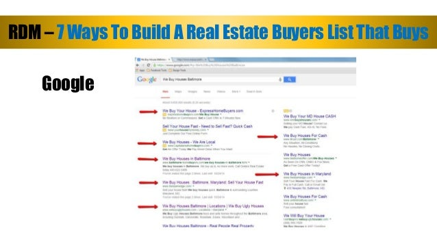 7 ways to build a real estate buyers list
