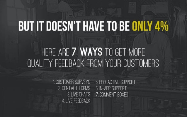 The 7 best ways to get quality feedback from your customers by @Frontapp Slide 3