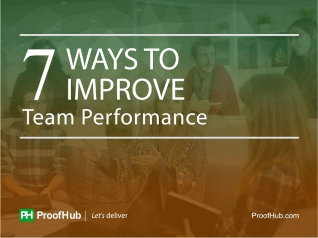 Improving team performance