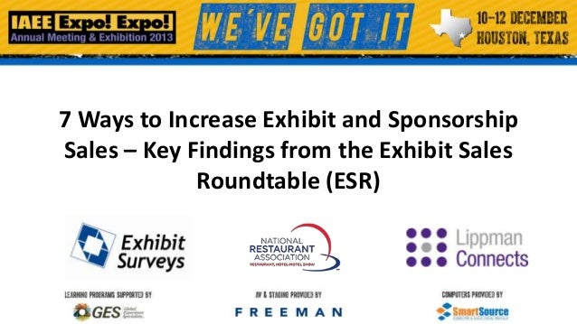7 Ways to Increase Exhibit and Sponsorship Sales – Key Findings from the Exhibit Sales Roundtable (ESR)