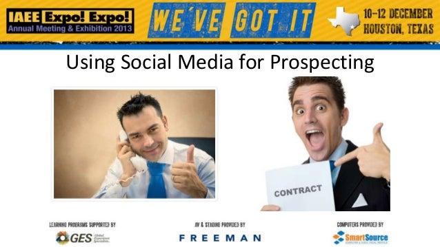 Using Social Media for Prospecting