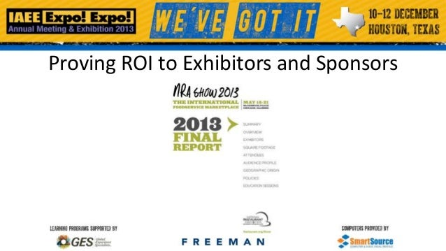 Proving ROI to Exhibitors and Sponsors