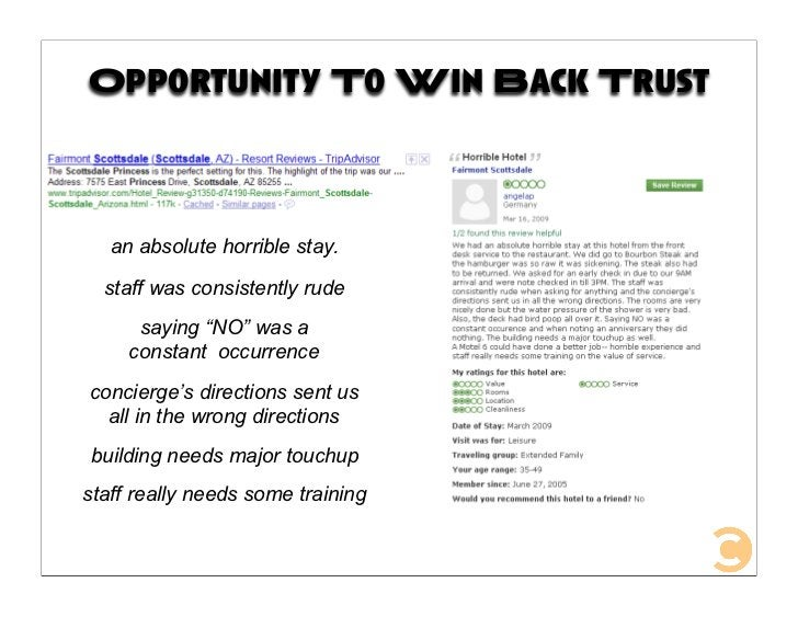 """Opportunity To Win Back Trust       an absolute horrible stay.    staff was consistently rude       saying """"NO"""" was a     ..."""