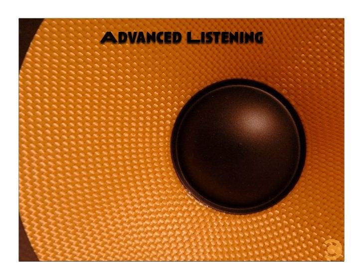 Advanced Listening