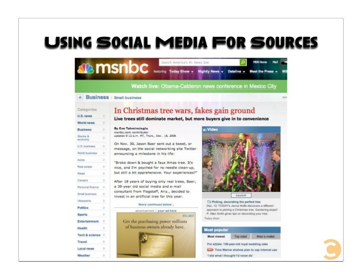 Using Social Media For Sources
