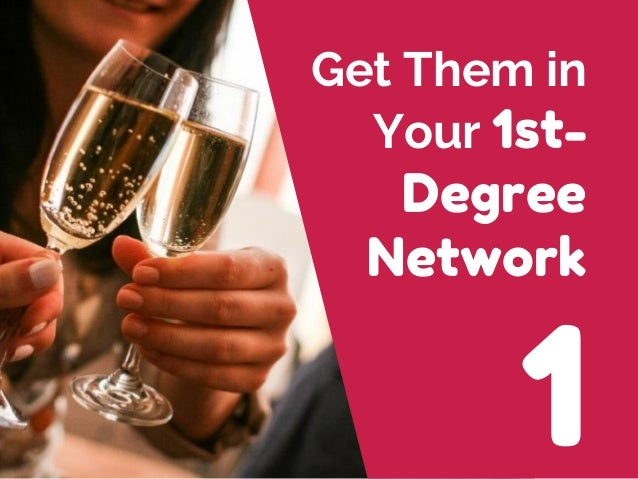 1 Get Them in Your 1st- Degree Network