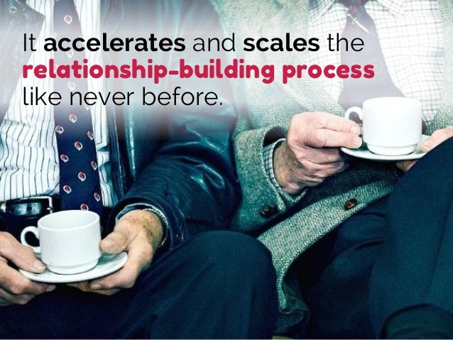It accelerates and scales the relationship-building process like never before.