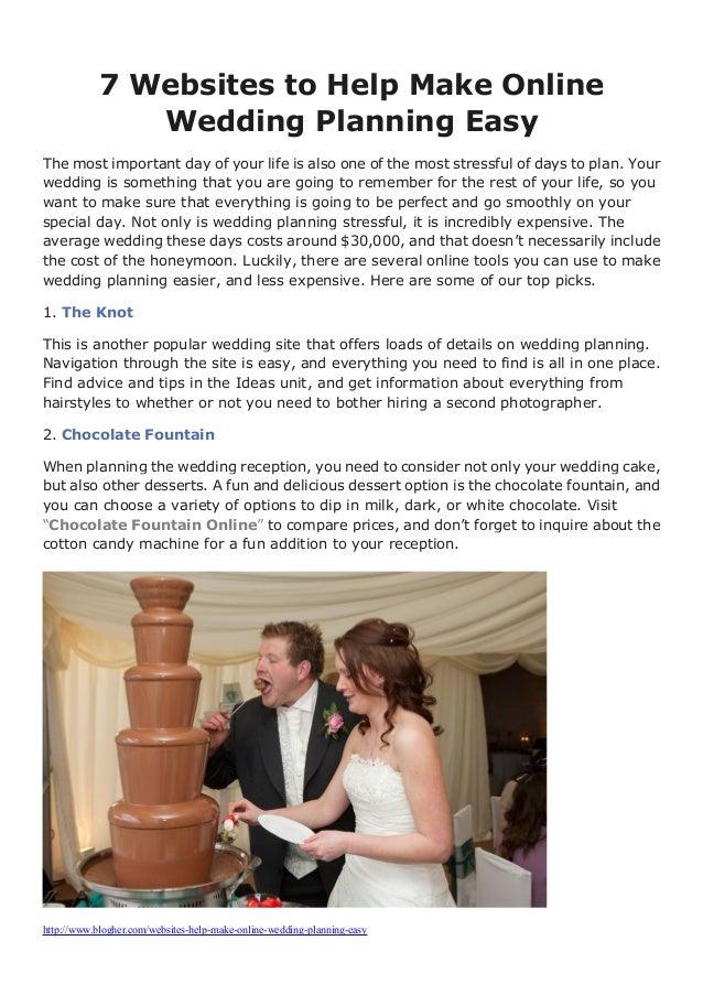 Online wedding planning help