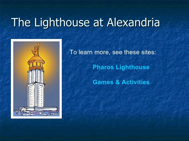 an overview of the ancient structure of the pharos of alexandria The lighthouse at pharos is an ancient lighthouse which was built around  the lighthouse - pharos  a part of the entrance to the port of alexandria in.