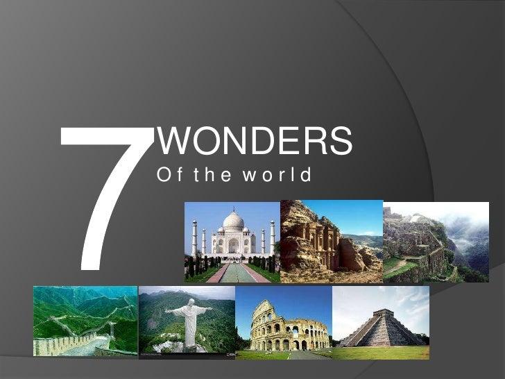 WONDERSOf the world