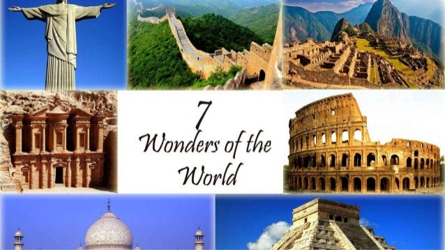 presentation on seven wonders of the world