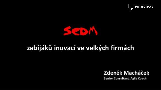 Sedm zabijákůinovacívevelkýchfirmách ZdeněkMacháček SeniorConsultant,Agile Coach